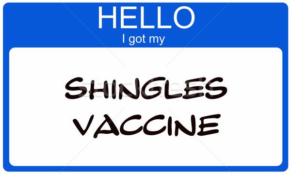 Bonjour vaccin bleu vignette Photo stock © mybaitshop