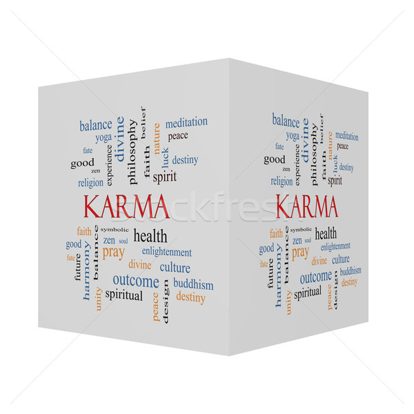 Karma 3D cube Word Cloud Concept  Stock photo © mybaitshop