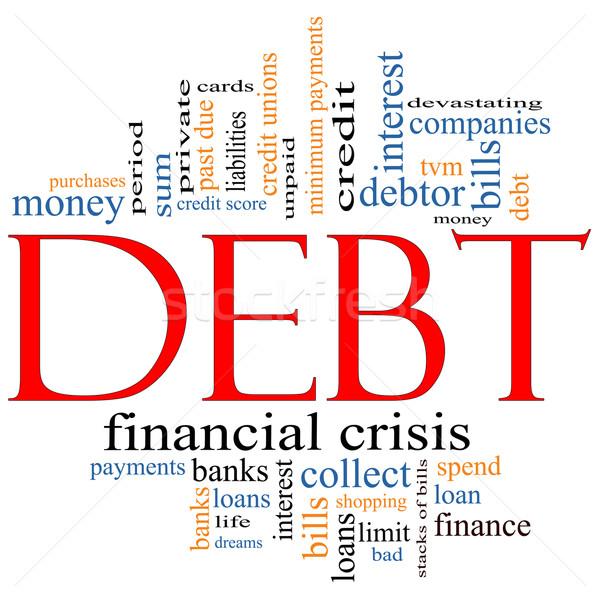 Debt Word Cloud Concept Stock photo © mybaitshop