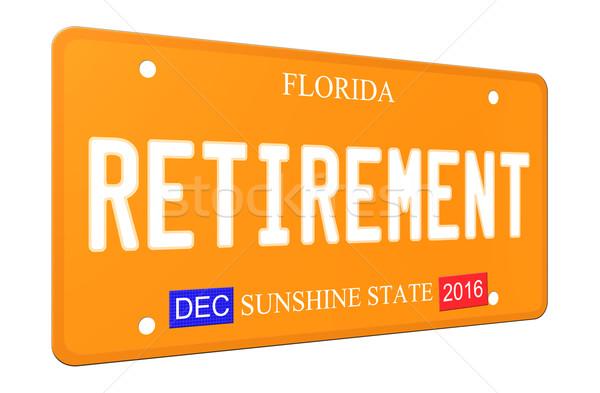 3D Florida placa imitación Foto stock © mybaitshop