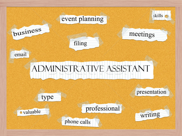 Administrative Assistant Corkboard Word Concept Stock photo © mybaitshop