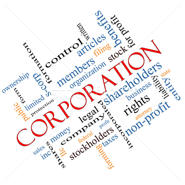 Corporation Word Cloud Concept Angled Stock photo © mybaitshop