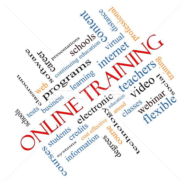 Stock fotó: Online · képzés · szófelhő · nagyszerű · elektronikus · oktatás