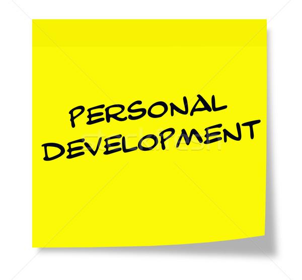 Personal Development Sticky Note Stock photo © mybaitshop