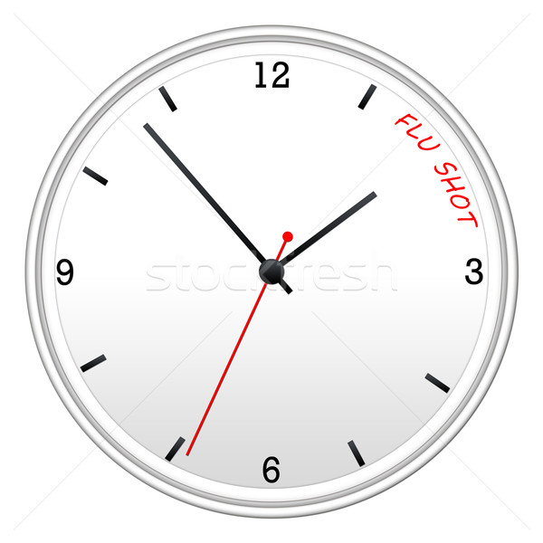 Time for the Flu Shot clock Stock photo © mybaitshop