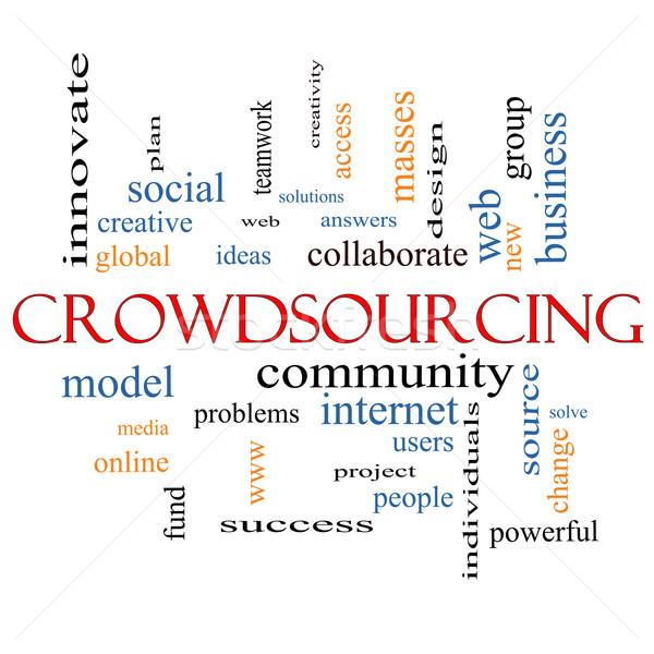 Crowdsourcing Word Cloud Concept Stock photo © mybaitshop