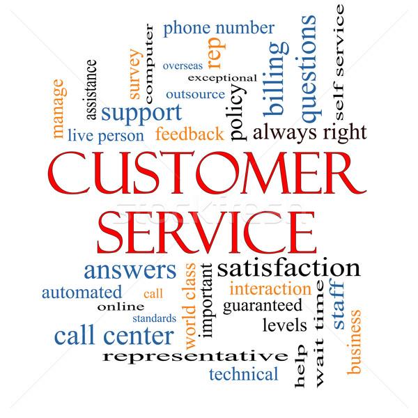 ügyfélszolgálat szófelhő nagyszerű ügyfélszolgálat segítség személyzet Stock fotó © mybaitshop