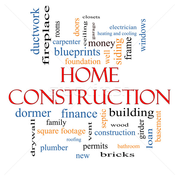 Home Construction Word Cloud Concept Stock photo © mybaitshop