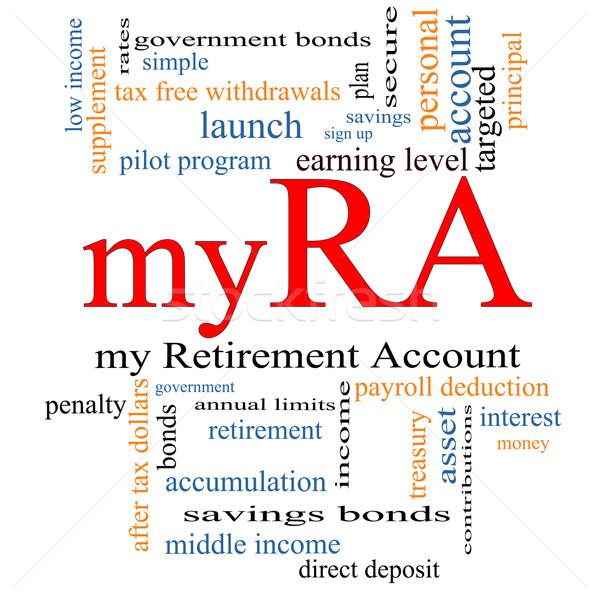 myRA Word Cloud Concept Stock photo © mybaitshop