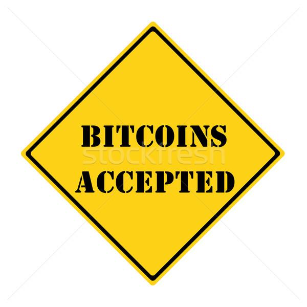 Bitcoins Accepted Sign Stock photo © mybaitshop