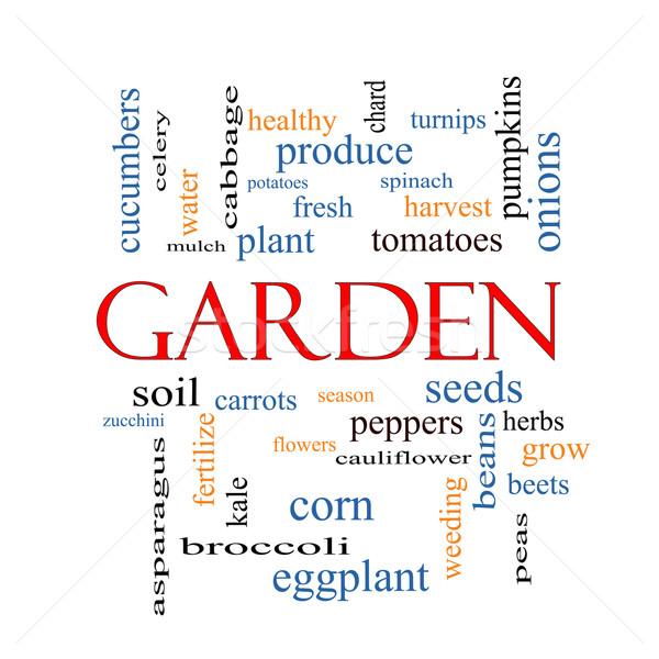 Garden Word Cloud Concept Stock photo © mybaitshop