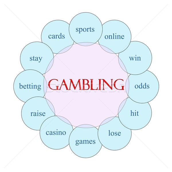 ギャンブル 言葉 図 ピンク 青 ストックフォト © mybaitshop
