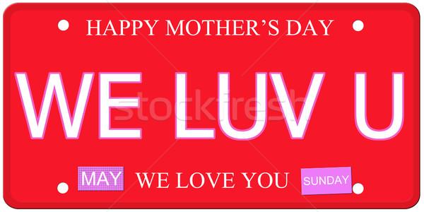 Mães dia prato escrito imitação placa Foto stock © mybaitshop
