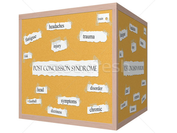 Post Concussion Syndrome 3D Corkboard Word Concept Stock photo © mybaitshop