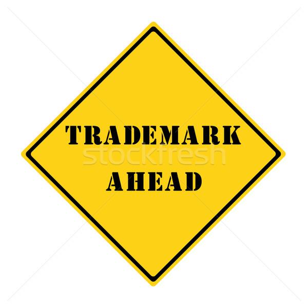 Handelsmerk vooruit teken Geel zwarte diamant Stockfoto © mybaitshop