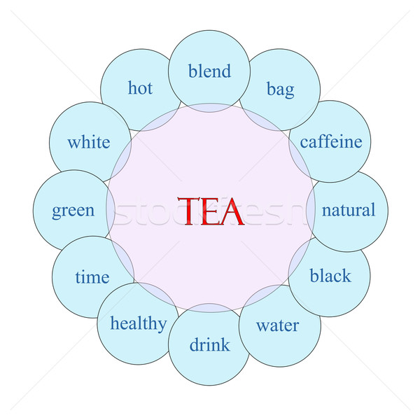 Tea Circular Word Concept Stock photo © mybaitshop