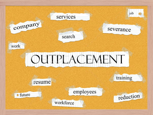 Outplacement Corkboard Word Concept Stock photo © mybaitshop