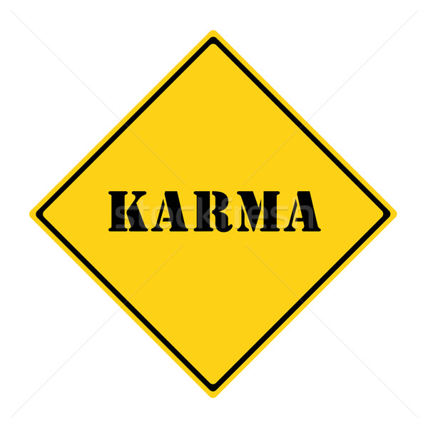 Karma Sign Stock photo © mybaitshop