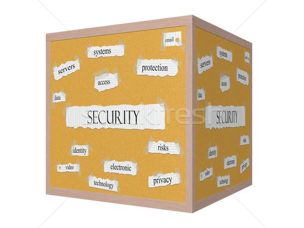 Security 3D Corkboard Word Concept Stock photo © mybaitshop