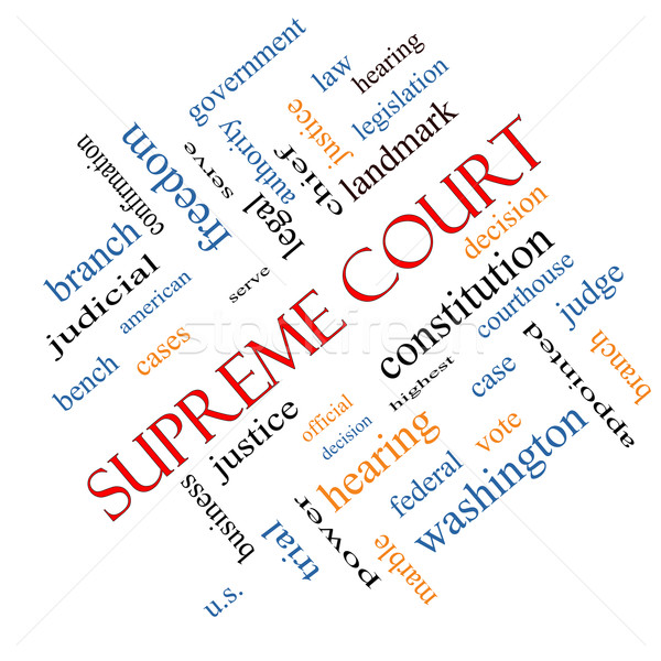 Sąd chmura słowo federalny prawa moc Zdjęcia stock © mybaitshop