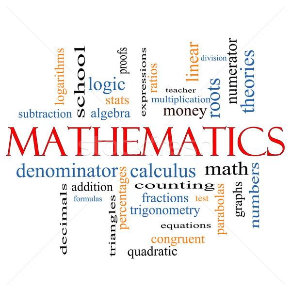 Matematika szófelhő nagyszerű algebra számtan több Stock fotó © mybaitshop