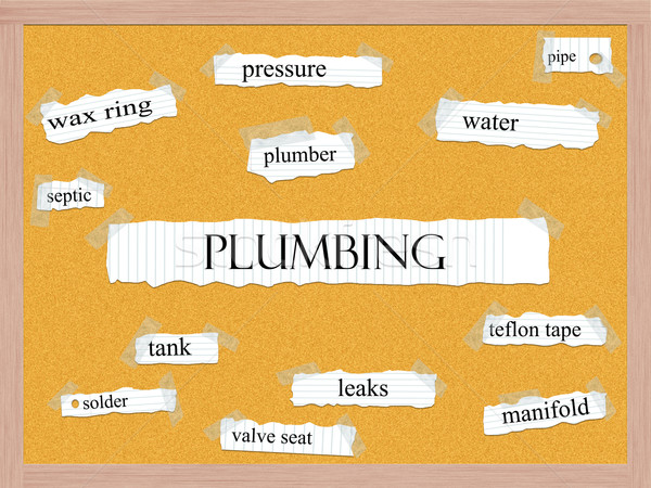 Plumbing Corkboard Word Concept Stock photo © mybaitshop