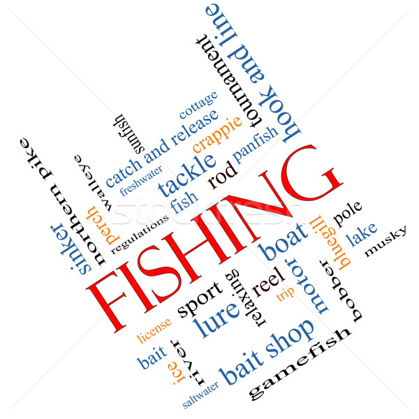 Fishing Word Cloud Concept Angled Stock photo © mybaitshop