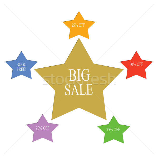 Big Sale Word Stars Concept Stock photo © mybaitshop
