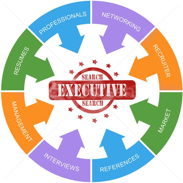 Executive Search Word Circle Stamp Concept Stock photo © mybaitshop