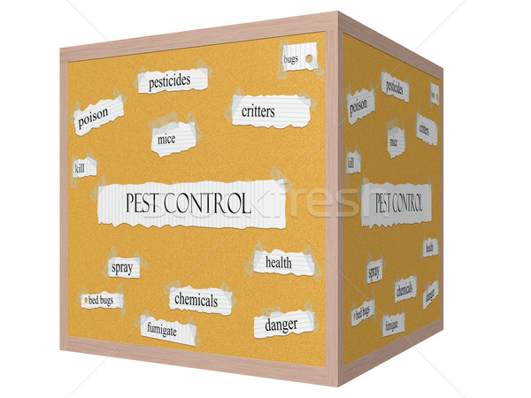 Pest Control 3D cube Corkboard Word Concept Stock photo © mybaitshop