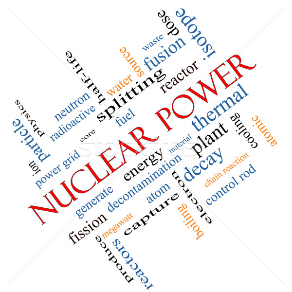 Nuclear Power Word Cloud Concept Angled Stock photo © mybaitshop