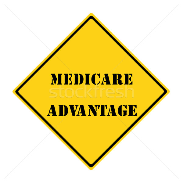 Medicare Advantage Sign Stock photo © mybaitshop
