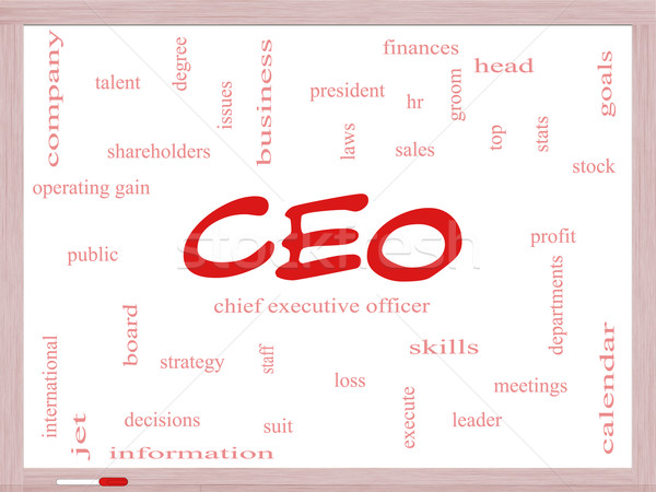 CEO Word Cloud Concept on a Dry Erase Board Stock photo © mybaitshop