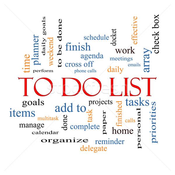 To Do List Word Cloud Concept Stock photo © mybaitshop