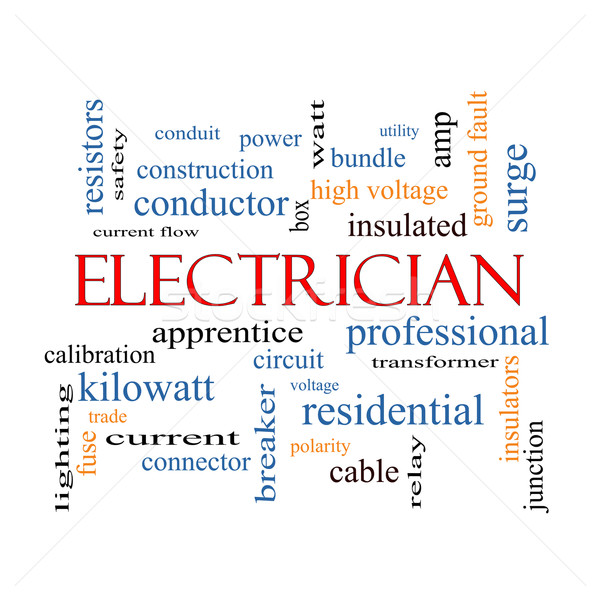 Electrician Word Cloud Concept Stock photo © mybaitshop