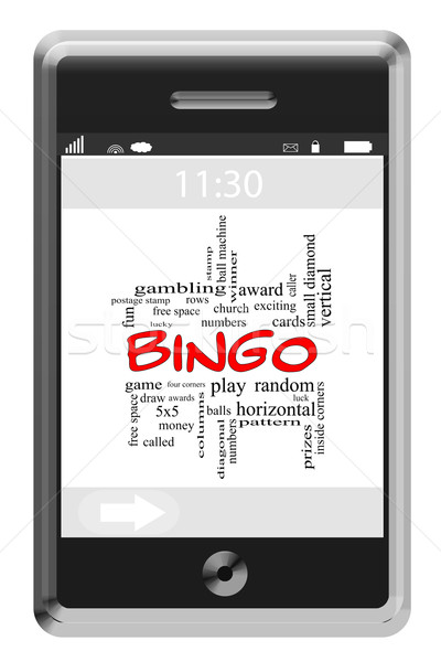 Bingo Word Cloud Concept on Touchscreen Phone Stock photo © mybaitshop