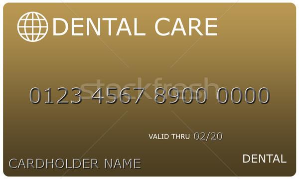 Goud tandheelkundige zorg kaart imitatie compleet nummers Stockfoto © mybaitshop