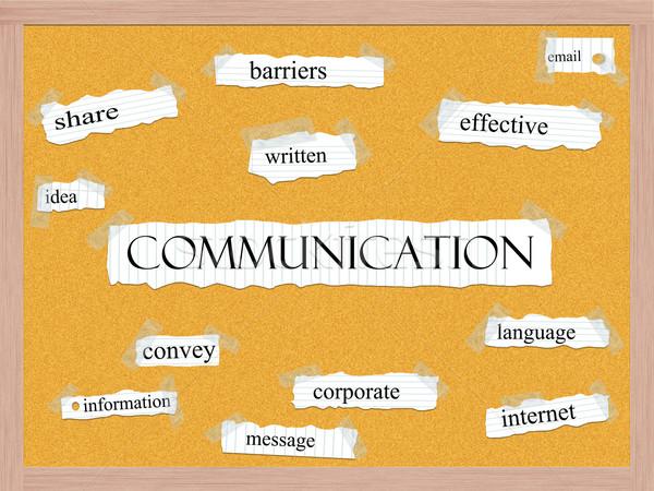 Communication Corkboard Word Concept Stock photo © mybaitshop