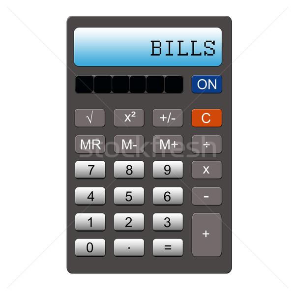Calculadora imitação palavra escrito Foto stock © mybaitshop