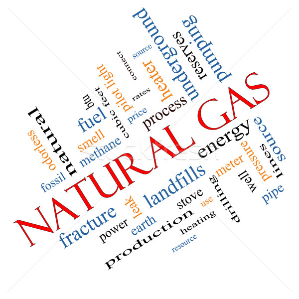 Natural Gas Word Cloud Concept Angled Stock photo © mybaitshop