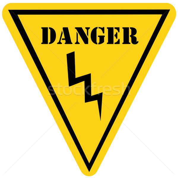 Danger Voltage Sign Stock photo © mybaitshop