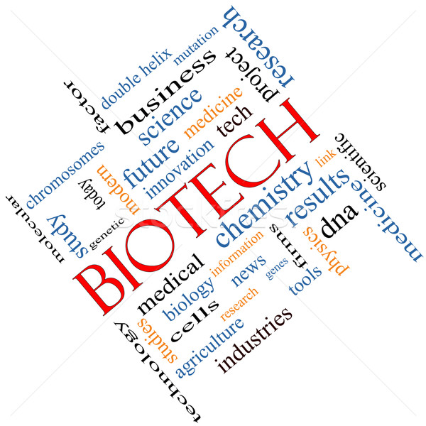 Biotech Word Cloud Concept Angled Stock photo © mybaitshop