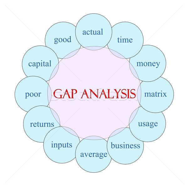 ストックフォト: ギャップ · 分析 · 言葉 · 図 · ピンク