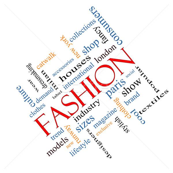 Fashion Word Cloud Concept Angled Stock photo © mybaitshop