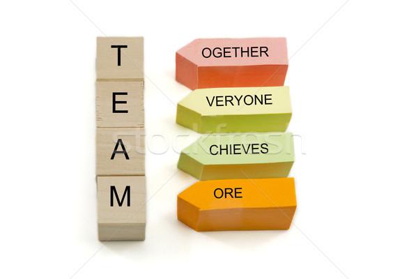 Team Blocks and Sticky Notes Stock photo © mybaitshop