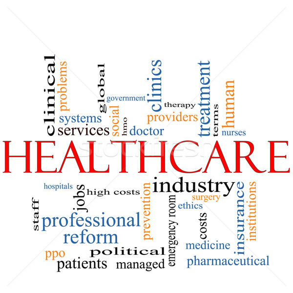 Healthcare word cloud concept Stock photo © mybaitshop