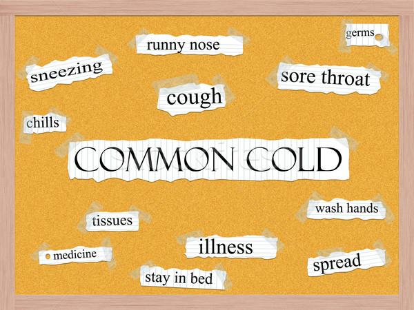 Common Cold Corkboard Word Concept Stock photo © mybaitshop