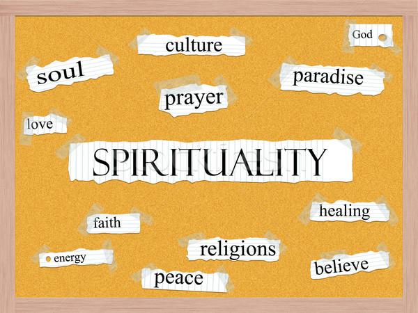 Spiritualitás szó nagyszerű tű megelőzés szeretet Stock fotó © mybaitshop