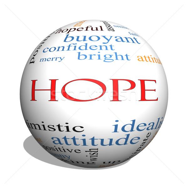 Stock photo: Hope 3D sphere Word Cloud Concept