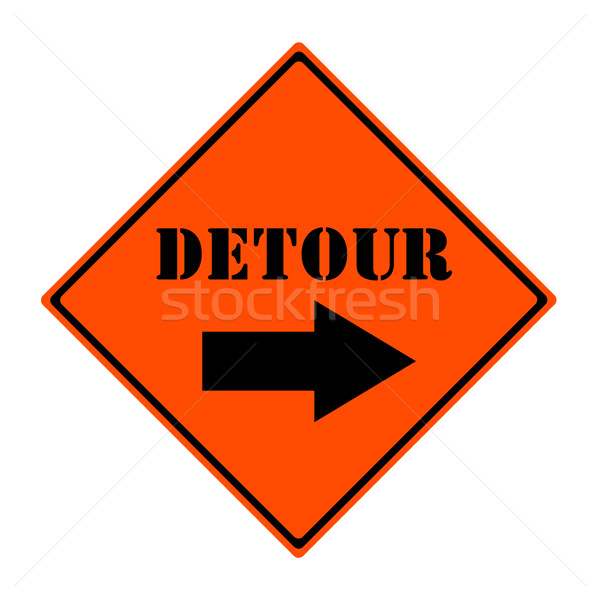 Detour This Way Sign Stock photo © mybaitshop